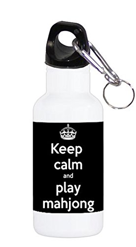 - Keep Calm and Play Mahjong Maj Jong 20 ounce Stainless Water Bottle by Debbie's Designs
