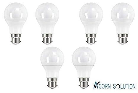 Bombilla LED con forma de bellota, B22, casquillo tipo bayoneta, color blanco frío, 12 W, B22d, 12.0W: Amazon.es: Electrónica