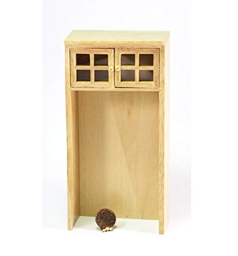 (Dollhouse Miniature Oak Cabinet for Refrigerator)