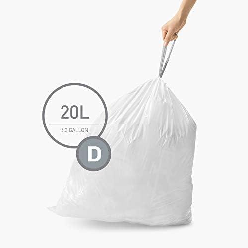 Simplehuman Bin Bag Liner Code D Box of 60 CW0254