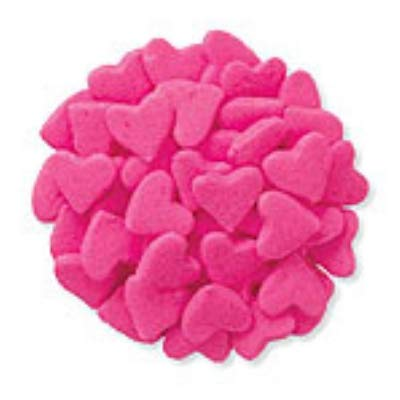 Pink Heart Shaped Cupcake Sprinkles - Cookie Sprinkles 1 oz