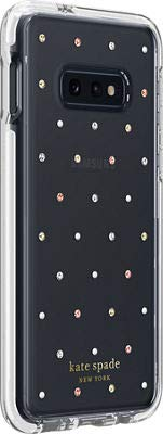 Kate Spade New York Phone Case | for Samsung Galaxy S10 | Protective Clear Hardshell Phone Cases with Pin Dot Design and Drop Protection -