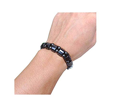 Magnetic Hematite Therapy Bracelet for Men Women, Unisex Stylish Weight Loss Magnetic Hematite Stone Slimming Healthy Bangle Jewelry