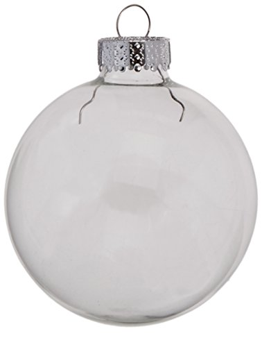 Darice 9-Piece Glass Ball Ornaments, 2-5/8-Inch, Clear - Decorated Glass Ball Ornaments