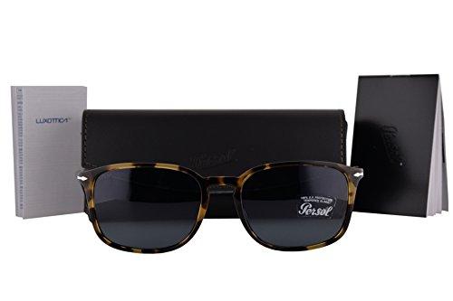 Persol PO3158S Sunglasses Havana w/Gray Lens 1056R5 PO - L Sunglasses Farrow