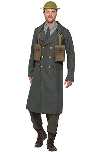 Smiffys WW2 British Office Costume, with Trench