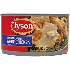 Tyson Foods Premium Chunk White Chicken 98  Fat Free  12 5Oz Can  Pack Of 6