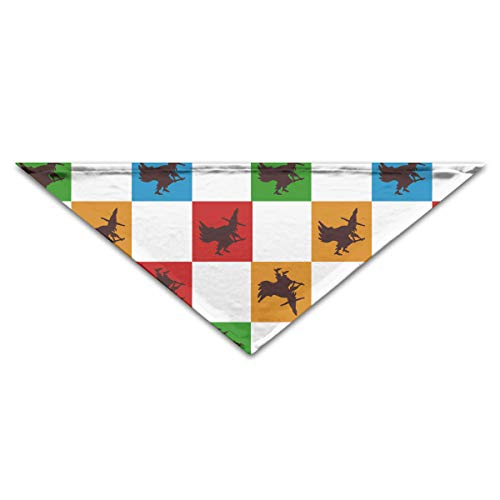 OLOSARO Dog Bandana Happy Halloween Witch Party Triangle