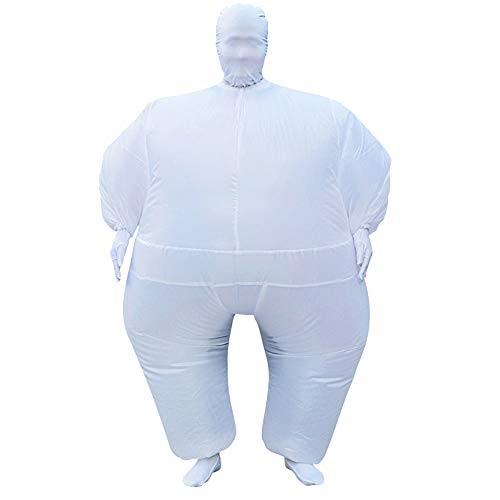 SIREN SUE Adult Inflatable Full Body Jumpsuit Cosplay Costume Halloween Blow Up for Party Toy White