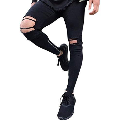 Sportivi Nero Sport Fitness Da Denim Outdoor Semplice Jeans Pantaloni Jogging Trekking Uomo Cargo Stile Skinny nf040Zq