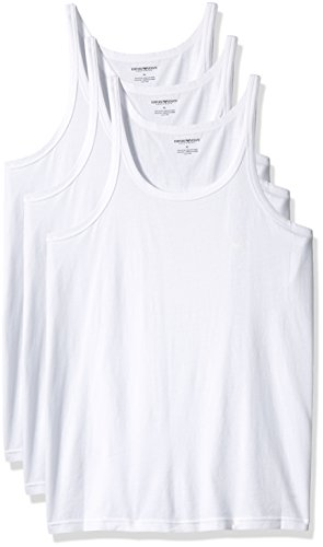 7b9fd3d355e95 Emporio Armani Men s 3-Pack Tank Top Regular Fit at Amazon Men s Clothing  store  Undershirts