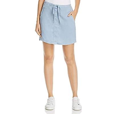 Bella Dahl Womens Button-Down Chambray Mini Skirt