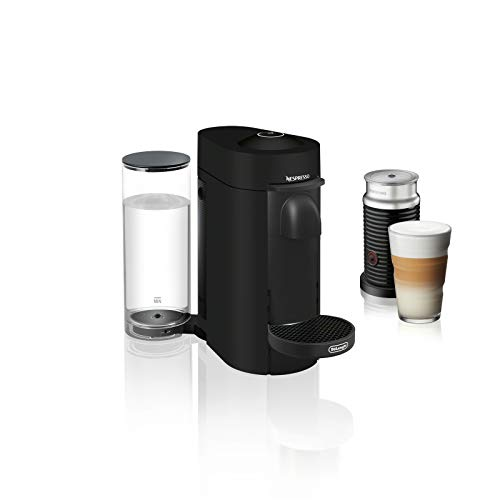 Nespresso ENV150BMAE VertuoPlus Coffee and Espresso Machine Bundle with Aeroccino Milk Frother by De'Longhi, Limited Edition Black Matte