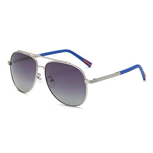 polarizadas UV400 2 Gafas anteojos anteojos Marco Aleación Hombres de Sol fish de Definición Protección Conducir de Coolsir de Gafas Alta TAC x70Rx4Aqw