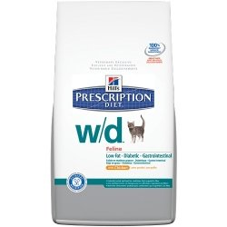 Hills W/D Low Fat Diabetic GI Health Chicken Cat Food 8.5 lb