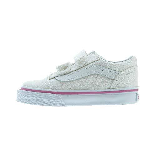 Vans Toddler Glitter Old Skool V VN0A344KQ7F Rainbow White Toddler Size 7 -
