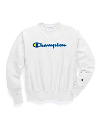 (Champion LIFE Men's Reverse Weave Sweatshirt, White, XX-Large)