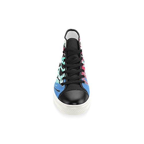 Interestprint Lace-up Coloré Crâne Classique Haut Haut Hommes Sneakers Mode Fitness Chaussures En Toile