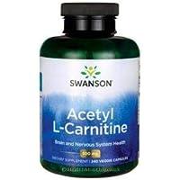 Swanson Acetyl L-Carnitine, 500mg, 240 Vegetarian Capsules