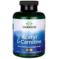 Swanson Acetyl L-Carnitine, 500mg, 240 Vegetarian Capsules