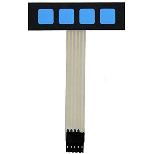 Super Slim 1x4 Matrix 4 Key Membrane Switch Control Keyboard Keypad For Arduino