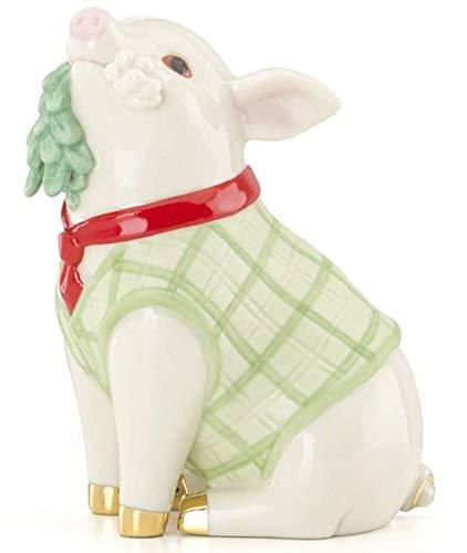 Figurine Mistletoe - Lenox Meet Me Under The Mistletoe Christmas Pig Figurine