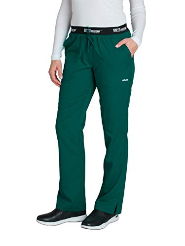 Grey's Anatomy Active 4275 Drawstring Scrub Pant Hunter Green M ()