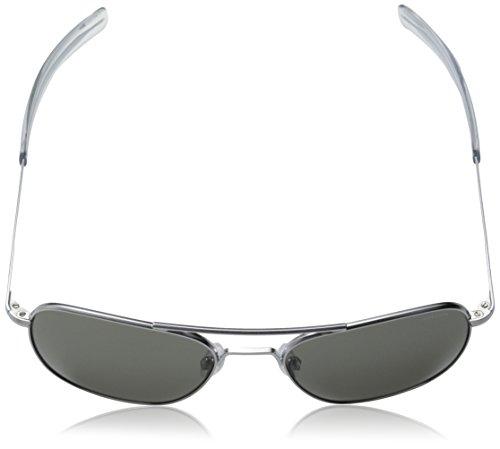 Randolph Aviator Square Sunglasses, 52 MM, Matte Chrome, Bayonet, Gray  Lenses - 403f96ef85df