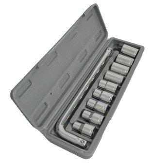 Aiwa TM Plastic Socket Wrench Set (Grey, 10-Pieces)