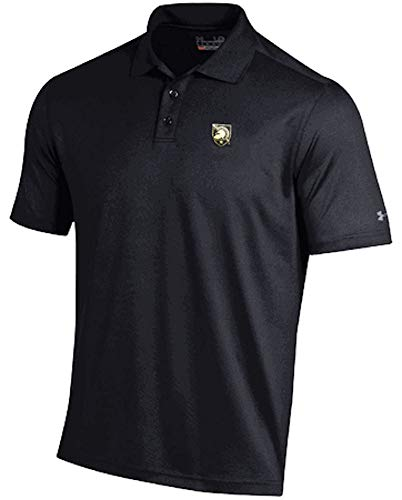 Under Armour Army Black Knights Mens Black Performance Polo Shirt (Large)
