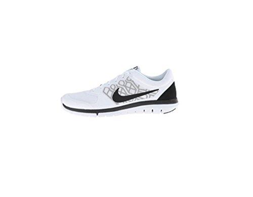 Nike Men's Flex 2015 Rn White/Black/Blue Graphite Running Shoe 7.5 Men US