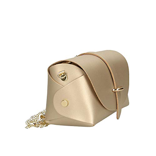 Pink Ancient Oro con Made vera pelle in Brilliant italy tracolla Colore Borsa in spalla 18x11x9 Dimensione a donna cm BqUwUZa