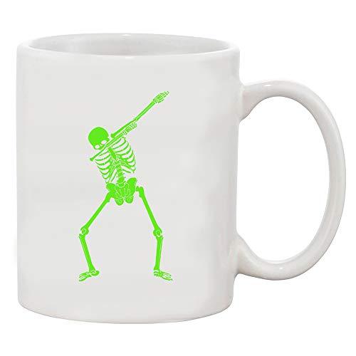 Dabbing Skeleton Halloween Funny Humor Costume White Coffee Mug (White, 11 -