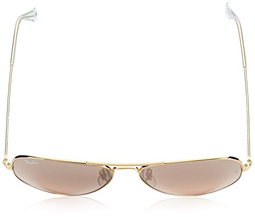amp; Aviator Adulto Crystal Silver Pink Transparente Mirror Ban Gafas Large Ray Silver Sol Pink amp; 58 Unisex Brown Mirror Brown de Transparente Metal Crystal Cw58765q