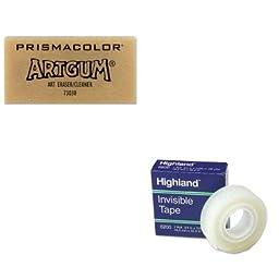 KITMMM6200341296SAN73030 - Value Kit - Prismacolor ARTGUM Non-Abrasive Eraser (SAN73030) and Highland Invisible Permanent Mending Tape (MMM6200341296)