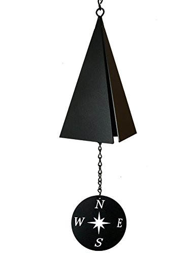 American Harbor Collection: 3-Tone Wind Bell with Compass Rose Wind Catcher
