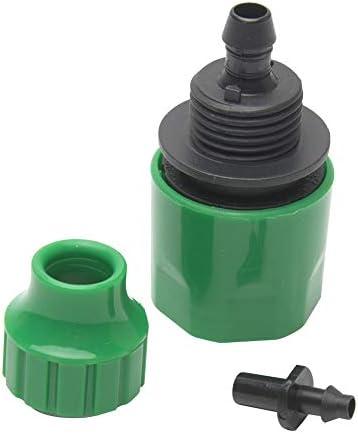 2本のプラスチックホースクイックコネクト、水管継手、庭用、温室、花壇、鉢植え4 / 7mm 8-11mmマイクロホース