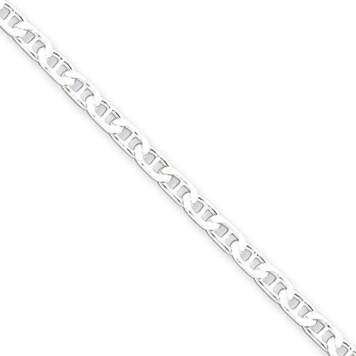 (3mm, Sterling Silver, Flat Anchor Chain Bracelet, 8 Inch)