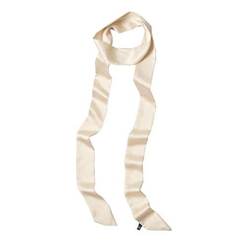 (Lujuny Long Thin Chiffon Silk-like Scarf - Skinny Neck Tie Waist Belt for Women Girls, 78.0 inch (BEIGE))