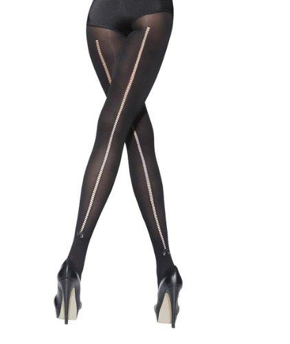 Collant Ajourée Noir 40 Couture D'une Avec Effet Den qfYrRq7