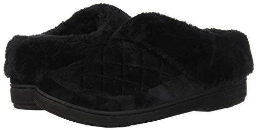 Pictures of Dearfoams Women's Velour Clog Slipper Black 50954 Black 4