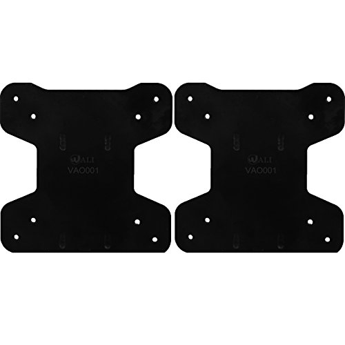 WALI VAO001-2 VESA Mount Adapter Bracket for AOC Monitors- i2367Fh/Fm/F, i2757Fh/Fm, i2067f, and i2267Fw/Fwh, 2 Pack, Black
