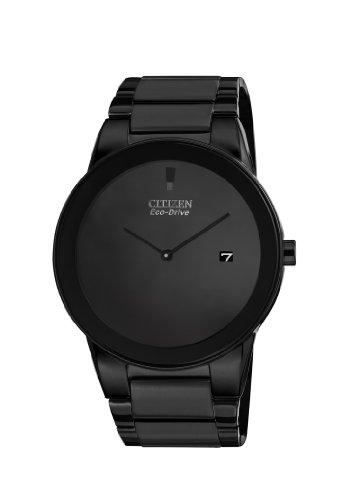 Citizen Eco-Drive Men's Axiom Black Stainless Steel Bracelet Watch, AU1065-58E