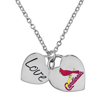 St. Louis Cardinals MLB Ladies Heart Necklace