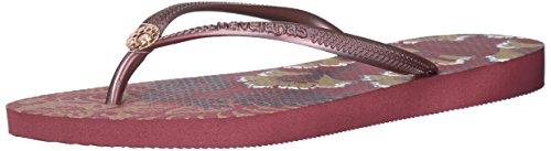 im Flip Flop Sandals, Royal Print,Beet,35/36 BR (6 M US) (Havaianas Print Flip Flops)
