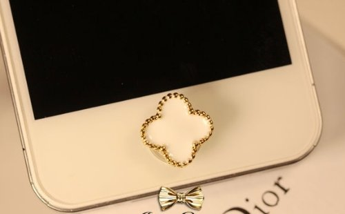 CJB Elegant White Cross Home Return Key Button Sticker For iPhone 4S iPhone 5 iPod Touch iPad (US Seller)