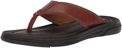 Kenneth Cole New York Men's Yard B Flat Sandal, Cognac, 11 M (Kenneth Cole Rubber Sole Sandals)
