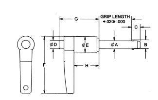 Monroe Hardware LBL-SS7100 3//16 X .50 17-4 L-HNDL RAPID RELEASE PIN