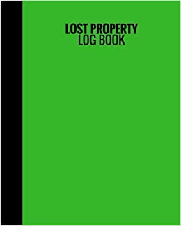 amazon com lost property log book green cover lost found log