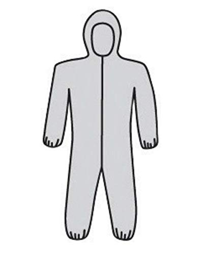 (West Chester X-Large Gray SSMS Polypropylene Disposable Coveralls, Package Size: 25 Each)